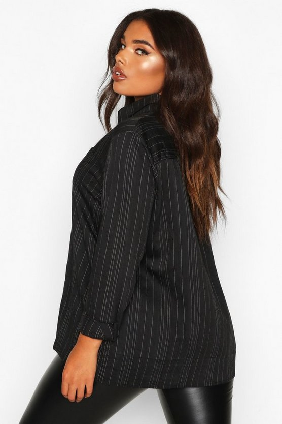 Plus Woven Stripe Shirt