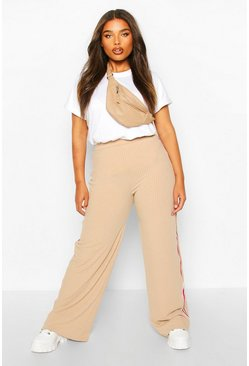 Dam Stone Plus Soft Rib Side Stripe Trousers