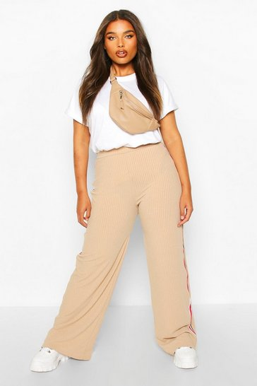 Stone Plus Soft Rib Side Stripe Trousers