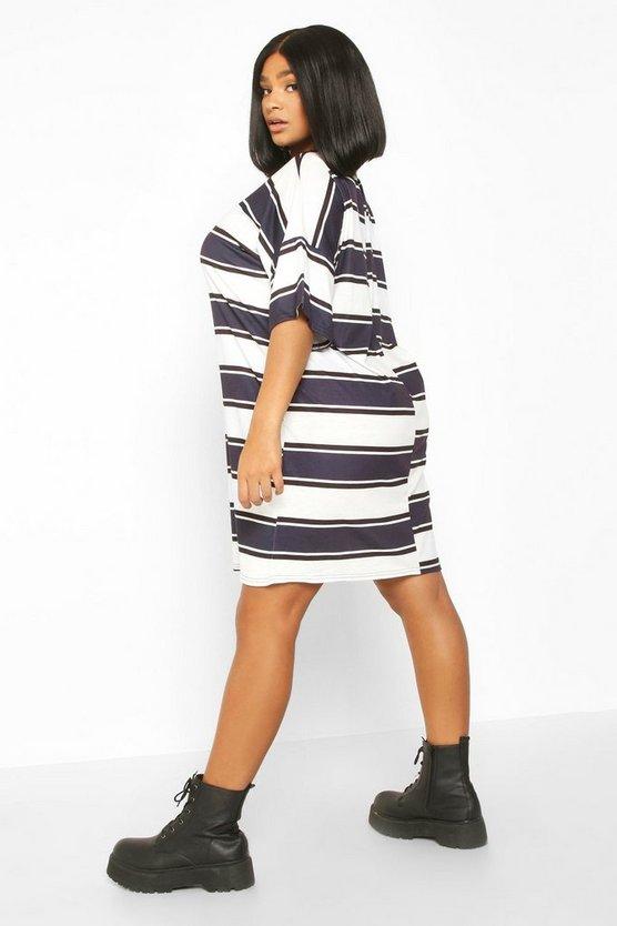Plus Stripe Oversized T-Shirt Dress