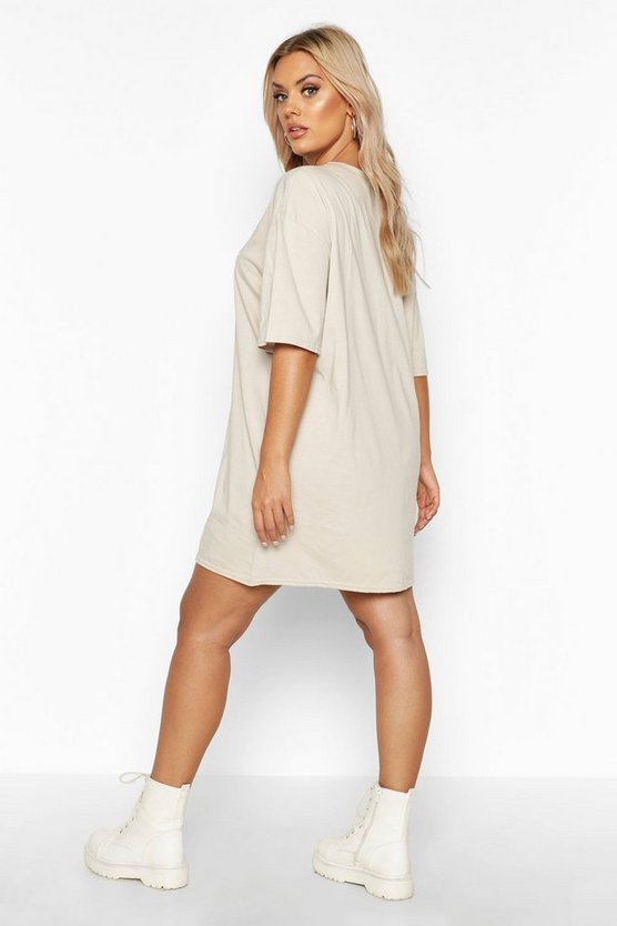 Plus Ye Saint Oversized Slogan T-Shirt Dress
