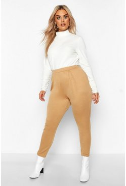 Dam Camel Plus Pleat Front Skinny Trousers