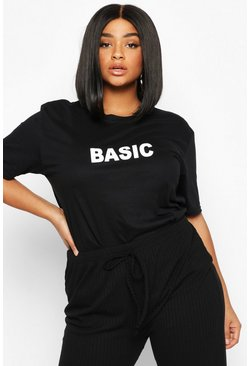 Black Plus 'Basic' T-Shirt