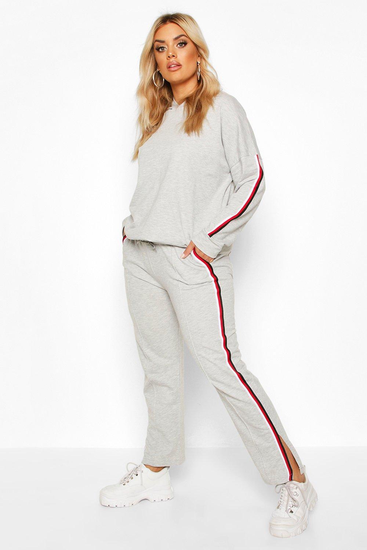Plus Loopback Trim Detail Hoody + Trouser Set 13