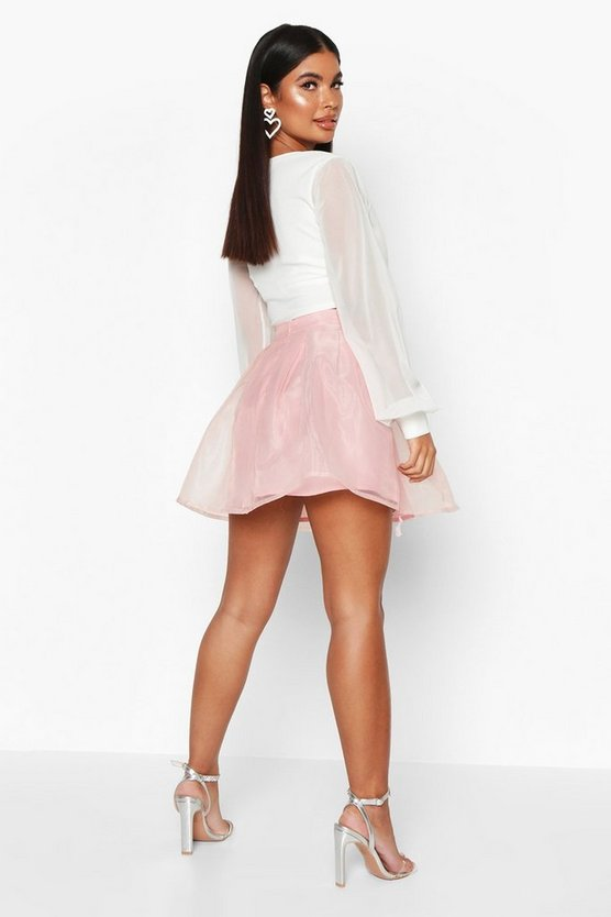 Petite Organza Skater Skirt