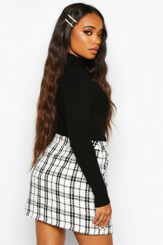 Petite Boucle Check Pocket Mini Skirt