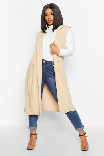 Stone Plus Tailored Sleeveless Duster