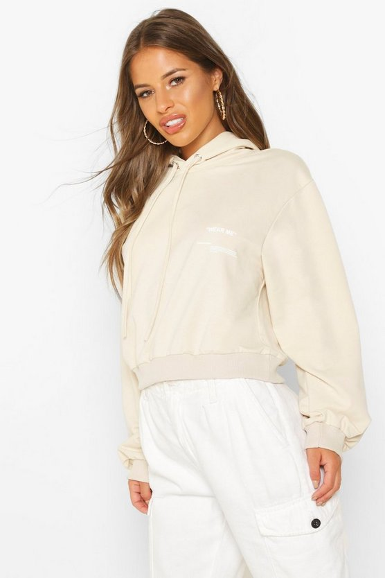 Petite Care Label Hoody by Boohoo