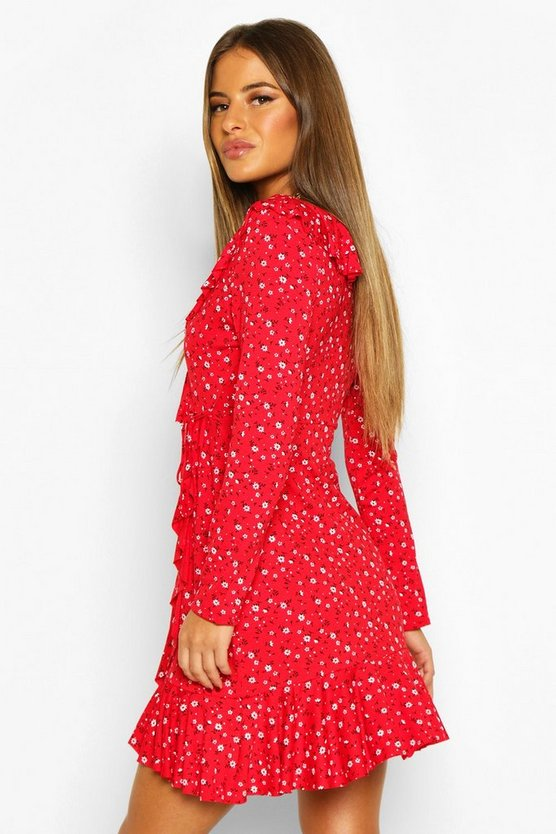 Petite Ditsy Floral Tea Dress