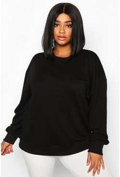 Black Plus Oversized Sweat