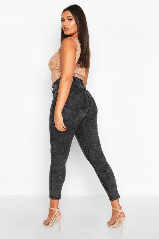 Plus High Waist Skinny Jean