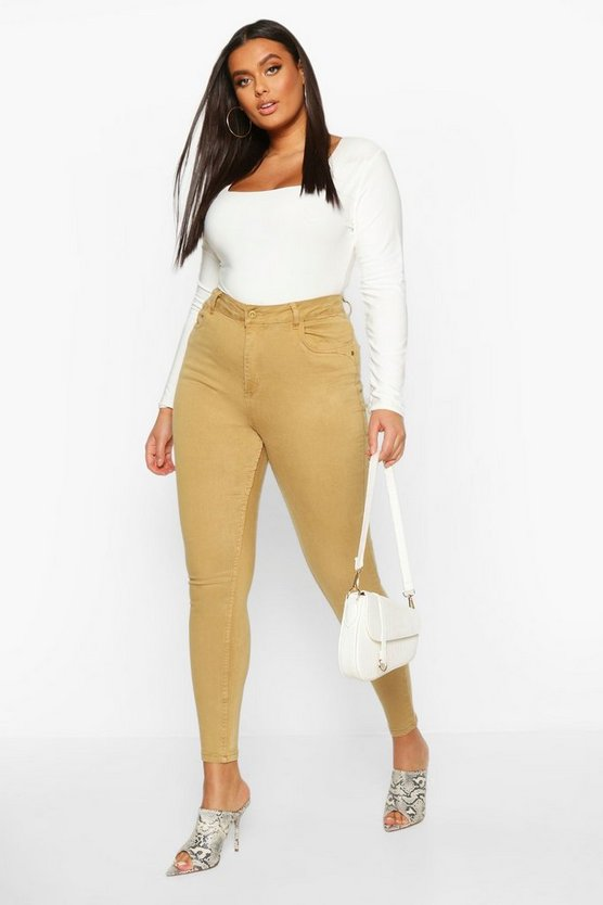Plus Pocket Stretch High Waist Skinny Jean