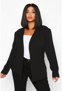 Black Plus - Blazer med ribbad struktur