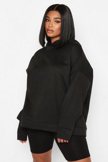 Black Plus Oversized Supersoft Hoody