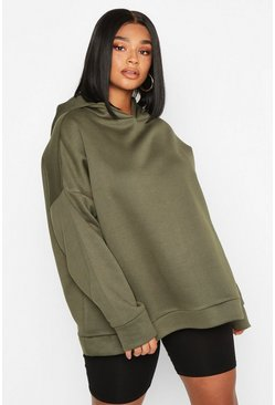 Plus Superweicher Oversized Hoodie, Khaki