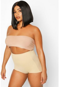 Womens Nude Plus High Waisted Control Breif