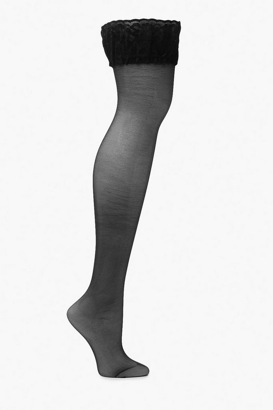 Plus Lace Top Stockings