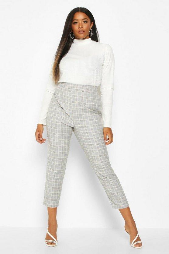 Plus Check Tailored Trouser