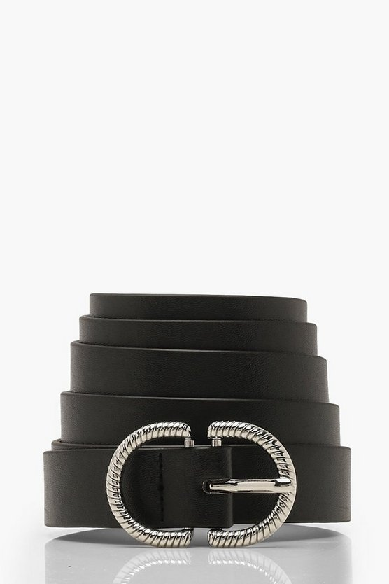 Plus Silver Buckle Waist Belt
