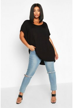 Black Plus Oversized T-Shirt