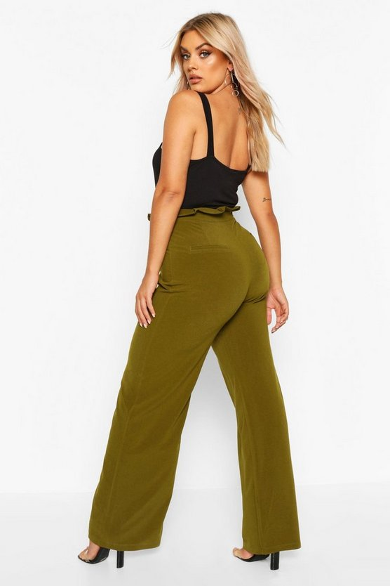 Plus Wide Leg Trousers