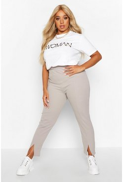 Womens Moss Plus High Waisted Tapered Trouser