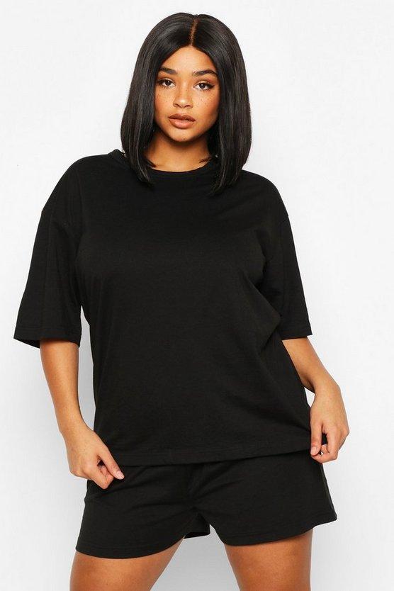 Plus Basic T-Shirt and Short Set