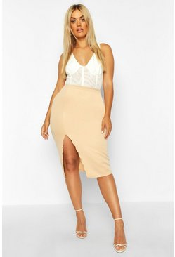 Sand Plus Scuba Scallop Split Midi Skirt