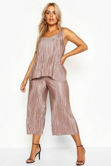 Stone Plus plisse Swing Cami + Culotte Co-Ord