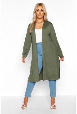 Khaki Plus Longline Duster