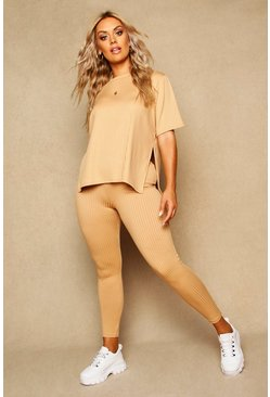 Butterscotch Plus Ribbed Stretch Leggings