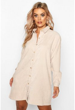 Stone Plus Baby Cord Shirt Dress