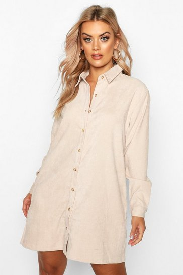 Stone Plus Babycord Shirt Dress