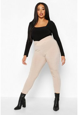 Womens Stone Plus Ribbed Sculpted Legging