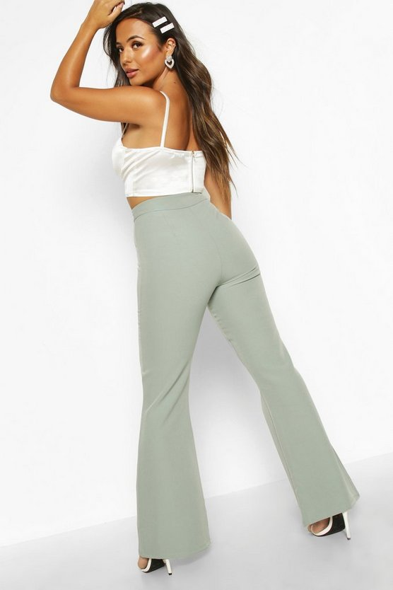Petite High Waist Tailored Flares