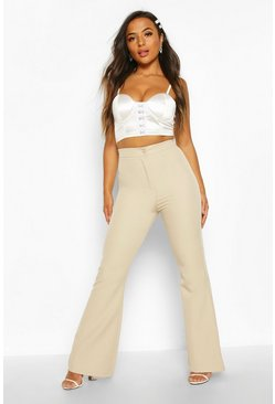 Dam Stone Petite High Waist Tailored Flares
