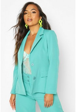 Dam Teal Petite Single Breasted Blazer