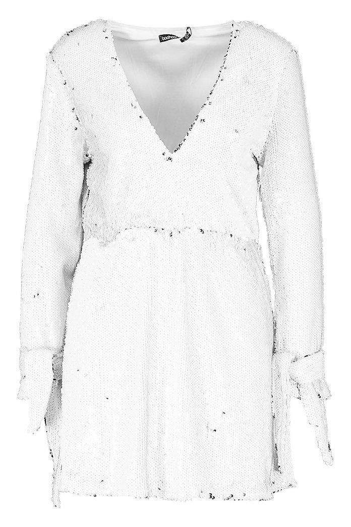 White Glitter Dresses: