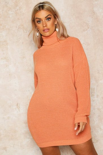 enjoy free shipping official sale 100% quality quarantee Plus Roll Neck Jumper Dress