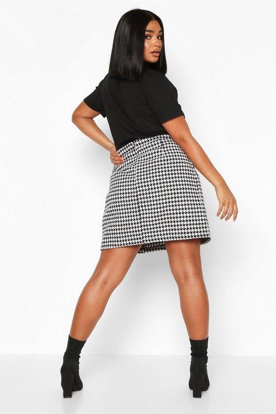 Plus Dogtooth Heavy Weight Aline Skirt