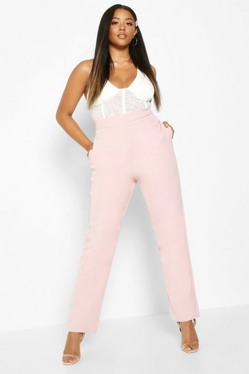 Womens Blush Plus Premium Tailored Trouser
