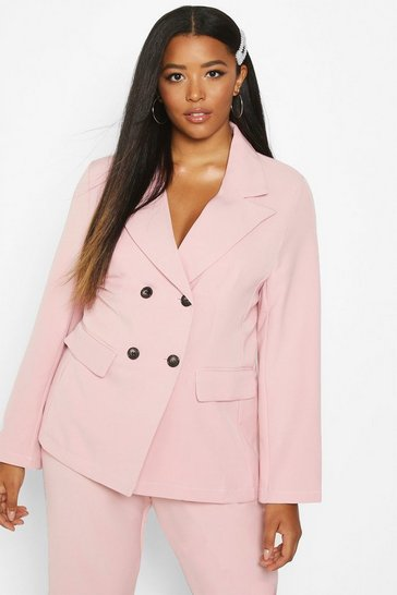 Womens Blush Plus Premium Longline Blazer