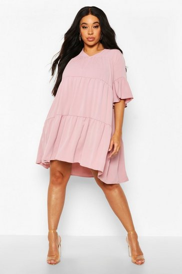 Plus Ruched Detail Smock Dress