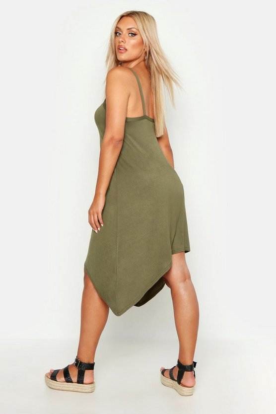 Plus Strappy Beach Hanky Hem Sundress