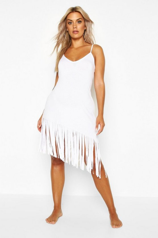 Plus Tassel Strappy Beach Dress