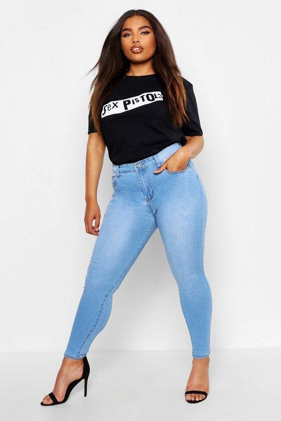 Plus Skinny 5 Pocket High Waist Jeans