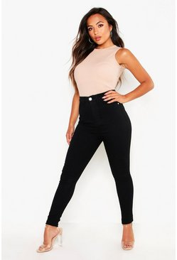 "Womens Petite Black Jeggings 28"""" Leg"