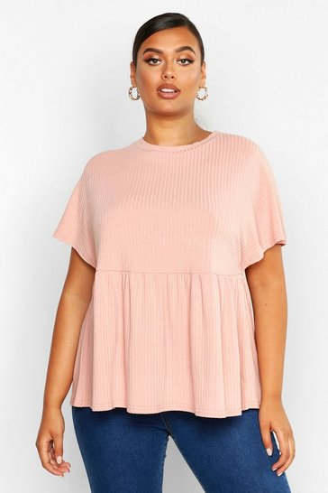 Blush Plus Super Soft Rib Smock Top