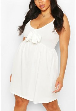 Ivory Plus Tie Front Sundress