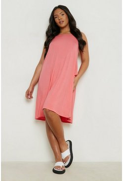 Womens Poppy Plus Basic Swing Dress
